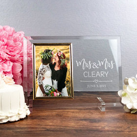 Personalized Picture Frame Mrs. & Mrs.