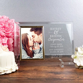 Personalized Picture Frame Anniversary Dates