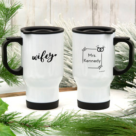 Personalized Wifey Stainless Steel Travel Mug (14oz)