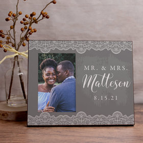 Personalized Picture Frame Mr. & Mrs. Lace