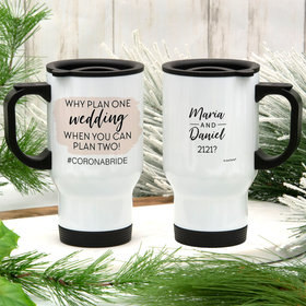 Personalized Travel Mug (14oz) - Why Plan One Wedding