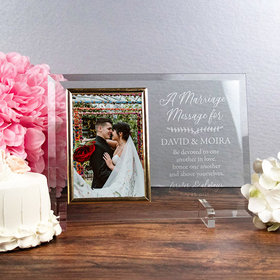 Personalized Picture Frame A Marriage Message