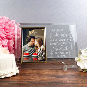 Personalized Picture Frame Wedding Word Cloud