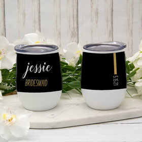 Personalized Bridesmaid Wine Tumbler (12oz)
