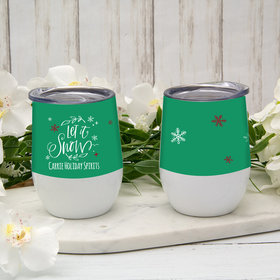 Personalized Let It Snow Wine Tumbler (12oz)