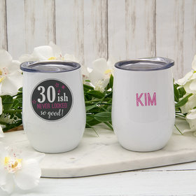 Personalized Age-ish Birthday Wine Tumbler (12oz)