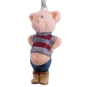 Personalized Potbelly Piglet Christmas Ornament