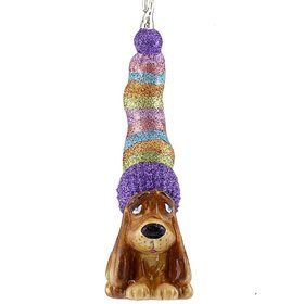 Long Dog Christmas Ornament