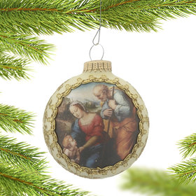 2017 Dated Masters on Silk (Holy Family by Raffaello) Christmas Ornament
