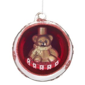 Ornament in an Ornament - Teddy Bear Christmas Ornament