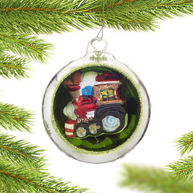 Personalized Ornament in an Ornament - Train Christmas Ornament