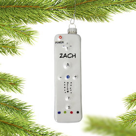 Personalized Wii Remote Christmas Ornament