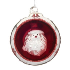 Personalized Ornament in an Ornament - Santa Christmas Ornament