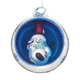 Ornament in an Ornament - Snowman Christmas Ornament