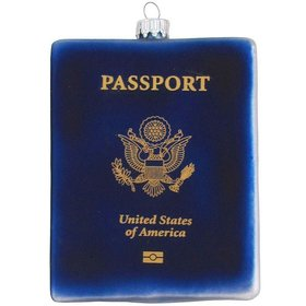 Personalized Travel Passport Christmas Ornament