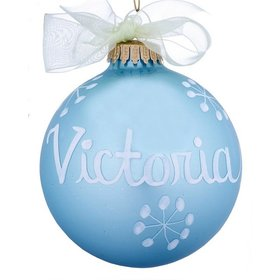Personalized 03 March Aquamarine Birthstone Ball Christmas Ornament