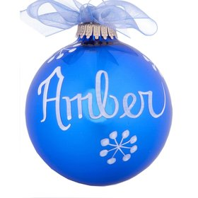 Personalized 09 September Sapphire Birthstone Ball Christmas Ornament