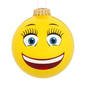 BFF Emoji Face Christmas Ornament