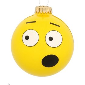 OMG Emoji Face Christmas Ornament