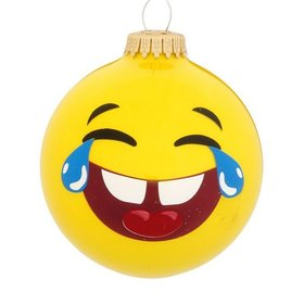 LOL Emoji Face Christmas Ornament