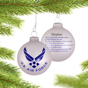 Personalized Air Force American Pride Christmas Ornament