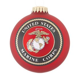 Personalized Marine American Pride Christmas Ornament