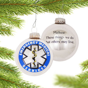 Personalized First Responder EMT Christmas Ornament