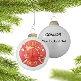 Personalized First Responder Fireman Christmas Ornament