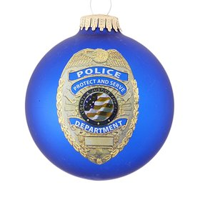 Personalized First Responder Policeman Christmas Ornament