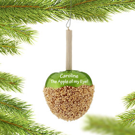 Personalized Caramel Apple Christmas Ornament