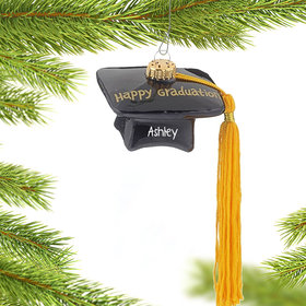 Personalized Happy Graduation Hat Christmas Ornament