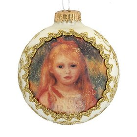 Personalized 2018 or 2019 Dated Masters on Silk (The Little Gleaner by Renoir) Christmas Ornament