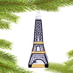 Personalized Eiffel Tower Christmas Ornament