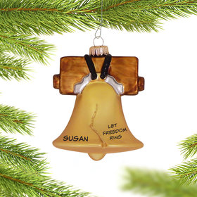 Personalized Liberty Bell Christmas Ornament