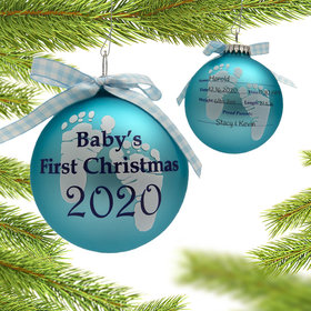 Personalized 2020 Baby's 1st Christmas Ornament