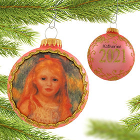 Personalized 2021 Dated Masters on Silk (Little Gleaner Renoir) Christmas Ornament