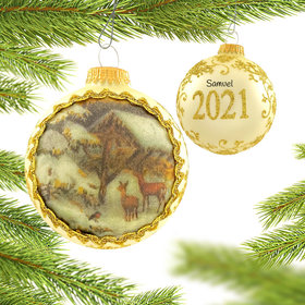 Personalized 2021 Dated Masters on Silk Christmas Ornament