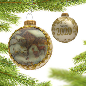 Personalized 2020 Dated Masters on Silk Christmas Ornament