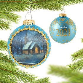 Personalized 2021 Dated Masters on Silk (Day) Christmas Ornament