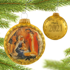 Personalized 2021 Dated Masters on Silk (Holy Family) Christmas Ornament
