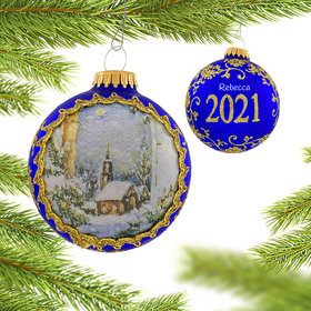 Personalized 2021 Dated Masters on Silk (Night) Christmas Ornament