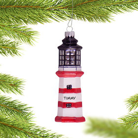 Personalized Lighthouse Ornament