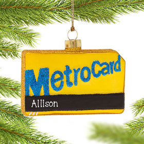 Personalized Metro Card Christmas Ornament