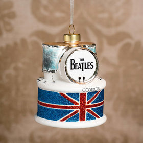 Personalized The Beatles Drum Set Christmas Ornament
