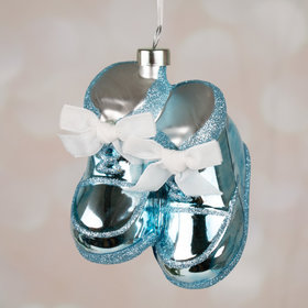 Personalized It's a Boy! Booties Christmas Ornament
