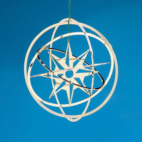 5 Ring Sphere (Star) Christmas Ornament