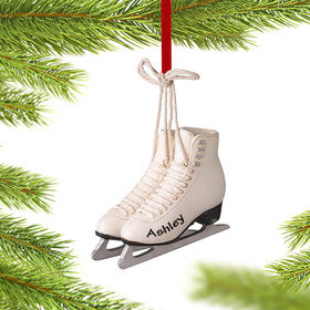 Personalized Figure Skates Christmas Ornament