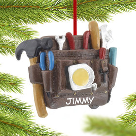 Personalized Tool Belt Christmas Ornament