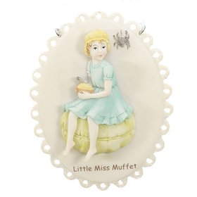 Personalized Little Miss Muffet Nursery Rhyme Christmas Ornament