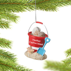 Personalized Sand Bucket Christmas Ornament